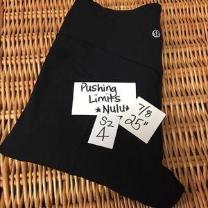 Lululemon Pushing Limits Align Nulu Black Sz 4